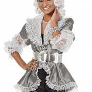 Markiezin blouse zilver