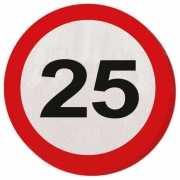 Verkeersbord servetten 25 jaar