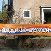 Oranje Boven spandoek 180x40 cm