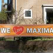 We love Maxima banner 180x40 cm