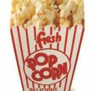Star cut out film popcorn