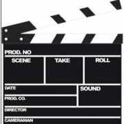 Star cut out film clipboard