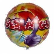 Helium ballon geslaagd