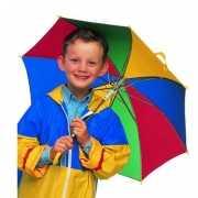 Kinder paraplu in vrolijke kleuren