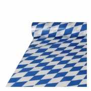 Bierfeest tafelkleed blauw/wit 20 m