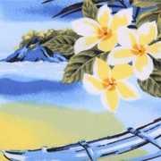 Decoratie stof met Hawaii print