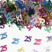 25 Jaar confetti gekleurd