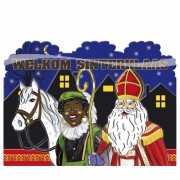 Welkom Sint en Piet decoratiebord