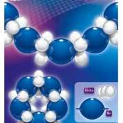 Vrolijke ballonnen slinger blauw wit