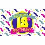 Verjaardags vlag Happy Birthday 18