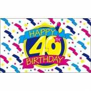 Happy Birthday vlaggen 40 jaar