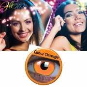 Oranje UV partylenzen