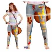 Jeans dames legging Flower power