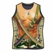 Heren t shirt met leger print