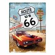 Route 66 metalen plaat voor aan de muur