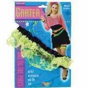 Dames kousebanden van groen kant