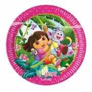 TV personage Dora feestbordjes 8 stuks