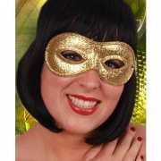Gouden oogmasker met glitters