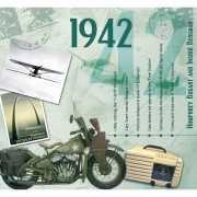 Verjaardag CD kaart met jaartal 1942