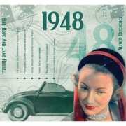 Verjaardag CD kaart met jaartal 1948