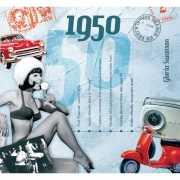 Verjaardag CD kaart met jaartal 1950