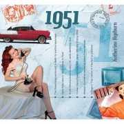 Verjaardag CD kaart met jaartal 1951