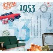 Verjaardag CD kaart met jaartal 1953