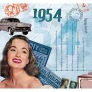 Verjaardag CD kaart met jaartal 1954