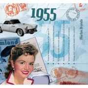 Verjaardag CD kaart met jaartal 1955