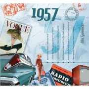 Verjaardag CD kaart met jaartal 1957