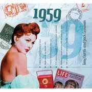Verjaardag CD kaart met jaartal 1959