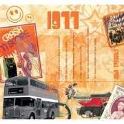 Verjaardag CD kaart met jaartal 1977