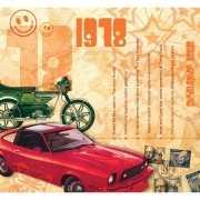 Verjaardag CD kaart met jaartal 1978
