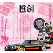 Verjaardag CD kaart met jaartal 1981