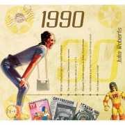 Verjaardag CD kaart met jaartal 1990