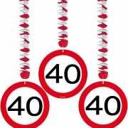 40e verjaardag versiering