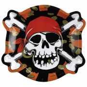 Kartonnen piraten bordjes 6 stuks
