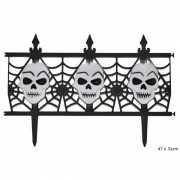 Horror halloween versiering hekje met schedels