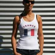 Franse vlag tanktop/ t shirt voor dames