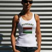 Hongaarse vlag tanktop/ t shirt voor dames