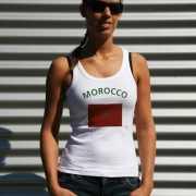 Marokkaanse vlag tanktop/ t shirt voor dames