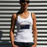 Nieuw Zeelandse vlag tanktop/ t shirt voor dames