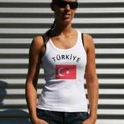 Turkse vlag tanktop  t shirt voor dames