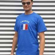 Heren t shirt met de Franse vlag