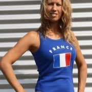 Dames tanktop met de Franse vlag