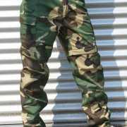 Afritsbare woodland camouflage broek