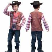 3D Cowboy shirt voor kinderen