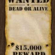 Most Wanted reward poster