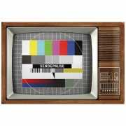 Tinnen plaat Retro TV 20 x 30 cm