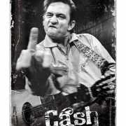 Tinnen plaat Johnny Cash 20 x 30 cm